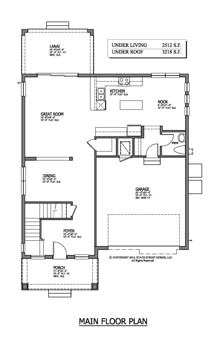 106 arlington avenue state street homes for Main street homes floor plans