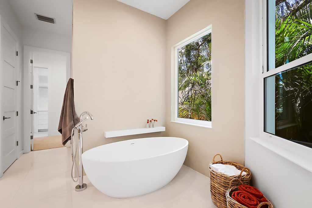 Modern Master bath vessel tub