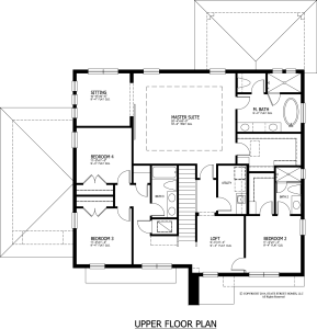 3604 Omar Upper Floor Plan