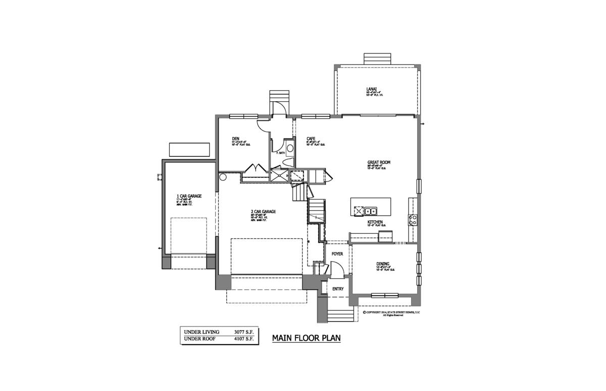 3604 s omar avenue main floor for Main street homes floor plans