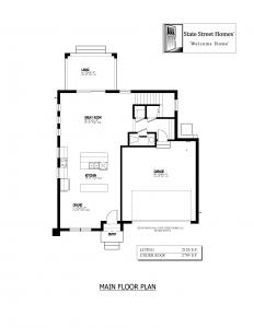 611 Clarendon Street, Oldsmar - Main Floor Plan